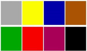 Карточки разных цветов